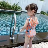 泳衣童裝女童新款韓版韓國連身泳裝寶寶洋氣兒童泳衣小公主游泳衣 快速出貨