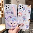 可愛紫色兔子蘋果11proxsmax手機殼iPhone11全包透明軟殼8X矽膠手機套