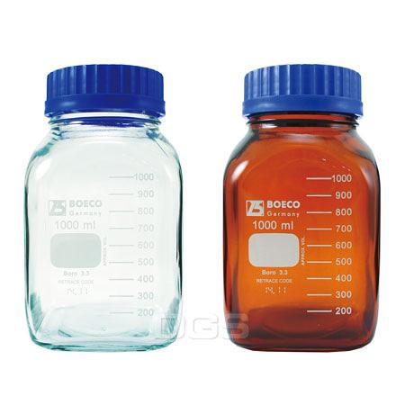 《BOECO》方型血清瓶 GLS80 Bottle, Media, Screw Cap, GLS80 PP Cap Square