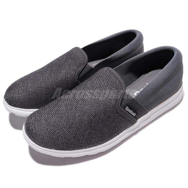 Reebok 休閒鞋 Skyscape Bliss 灰 深灰 懶人鞋 舒適方便 運動鞋 女鞋【PUMP306】 BS6252