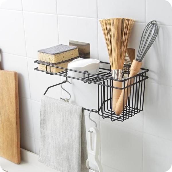 優思居 壁掛水槽掛籃 廚房水池台面刷碗抹布架子海綿瀝水收納架 夢幻衣都