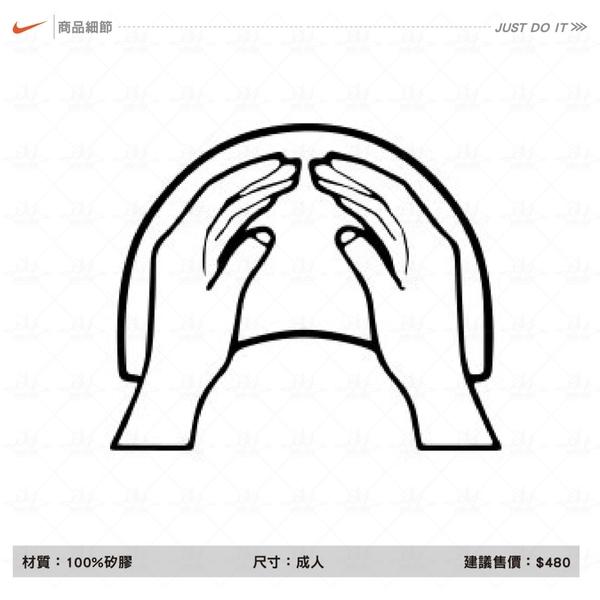 Nike 矽膠運動泳帽 成人競速泳帽 黑色 運動 機能 泳帽 男女 休閒水上活動 93060-011