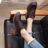 英倫風小皮鞋女鞋子夏季新款潮鞋百搭黑色平底單鞋女秋款 瑪麗蘇
