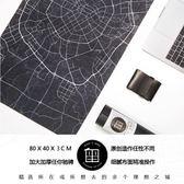 黑白原創超大加厚滑鼠墊城市地圖創意游戲辦公家用滑鼠鍵盤桌墊 港仔會社