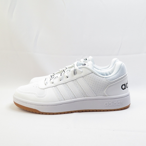 ADIDAS HOOPS 2.0 男款 休閒鞋 公司貨 FW4481 白x焦糖底【iSport愛運動】