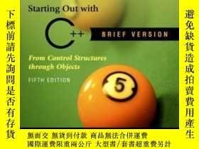 二手書博民逛書店Starting罕見Out With C++ Brief (5th Edition)Y364682 Tony