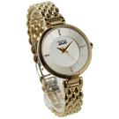 【萬年鐘錶】 NATURALLY JOJO  晶鑽點綴時標 香檳金錶面 金色框 金色錶帶 腕錶 JO96865-80K