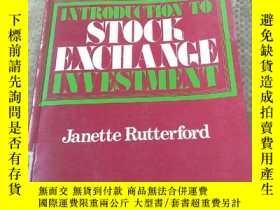 二手書博民逛書店INTRODUCTION罕見TO STOCK EXCHANGE