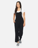 Hurley W HRLY MELLOW JUMPSUIT BLACK 連身褲-(黑)