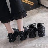 紳士鞋女黑色軟妹小皮鞋女學院風2019秋季新款單鞋女平底清新學生女鞋 芊墨左岸