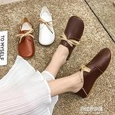 娃娃鞋 兩穿娃娃鞋新款秋季森繫圓頭鞋平底休閒文藝範學生鞋女單鞋潮 【母親節特惠】