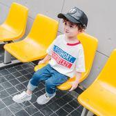 夏裝男童短袖t恤中小童寬鬆寶寶上衣兒童棉質休閒半袖體恤童裝潮 萬聖節