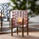 Royal晶透燭杯架-粉-生活工場
