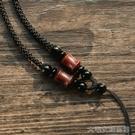 掛繩通幽閣手工編織編制小葉紫檀可調節和田玉吊墜掛繩項鍊繩子頸 大宅女韓國館
