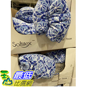 [COSCO代購] C995423 SOFTITEX PRINTED THROW 印花保暖毯500GSM 尺寸152X177公分