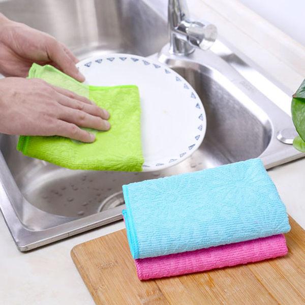 【TT】細纖維洗碗布吸水毛巾擦桌布 廚房不沾油不掉毛清潔抹布擦手巾