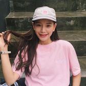 夏裝韓版學院風軟妹可愛愛心桃心心型刺繡寬鬆短袖T恤女     東川崎町