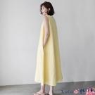 熱賣背心洋裝 棉麻無袖背心連身裙女夏2021新款韓版寬鬆顯瘦亞麻文藝過膝長裙子【618 狂歡】