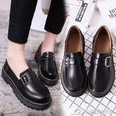 復古厚底小皮鞋女英倫風平跟單鞋日繫搭扣樂福鞋女豆豆鞋學院風潮   潮流前線