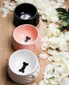 寵物貓碗狗碗食盆里的顏值擔當 蝴蝶結陶瓷骨頭碗
