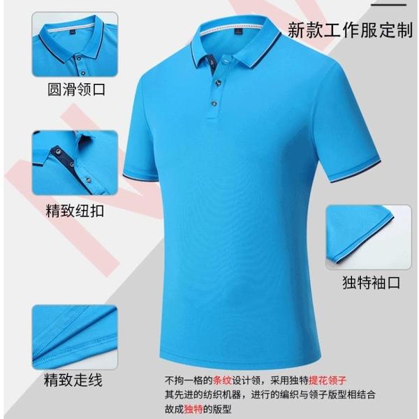 t恤定制速干運動Polo衫 訂做工作服短袖 翻領工衣廣告衫印logo刺繡 降價兩天