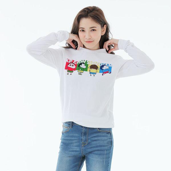 蠟筆小新Colors長袖T恤上衣