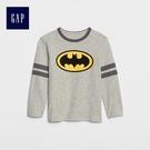 Gap男嬰幼童 Marvel復仇者聯盟系列可拆卸披風T恤 489399-亮麻灰色