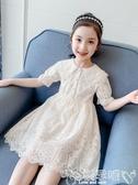 兒童連身裙 女童連身裙夏裝網紅女孩童裝蕾絲裙子夏季洋氣兒童公主裙 嬡孕哺