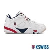 【超取】K-SWISS Caprina 復古老爹鞋-女-白/藍/紅