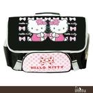 imitu 【Hello Kitty 凱蒂貓】橫式書背包(黑_蝴蝶結C款_KT-3049)