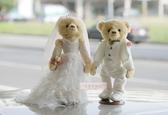一定要幸福哦~~白色浪漫婚紗對熊(整組含支架) 、婚禮小物、生日禮、婚禮佈置