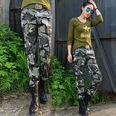 迷彩長褲-時尚個性多口袋流行女休閒褲子72u22[時尚巴黎]
