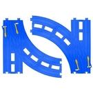 火車軌道配件 R-28 複線轉輒器《PLARAIL鐵道王國》