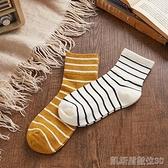 長襪唐獅襪子女中筒襪條紋潮流ins韓版女襪時尚春季新款長襪子女【凱斯盾】
