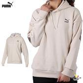 Puma 米白 女款 長袖 上衣 帽T 流行系列 Retro 長厚 連帽T恤 長袖 57768397