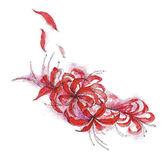 TAHUA她畫后背曼珠沙華彼岸花紋身貼花朵防水女持久仿真紅色性感【全館滿千折88折優惠】