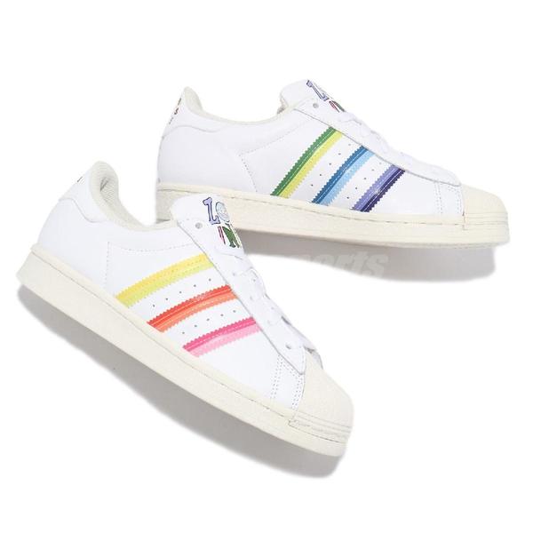 adidas 休閒鞋 Superstar Pride 白 彩色 彩虹 男鞋 女鞋 塗鴉 愛迪達 【ACS】 GW2415