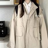 年秋冬季新款韓版寬鬆休閒百搭上衣女學生長袖時尚工裝外套潮 母親節禮物