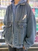 仙鶴牛仔外套男韓版潮流帥氣春秋夾克ins潮寬鬆港風男生秋季上衣 寶貝計畫