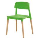 【森可家居】智喜綠色餐椅 10ZX717-3 實木 北歐風 繽紛