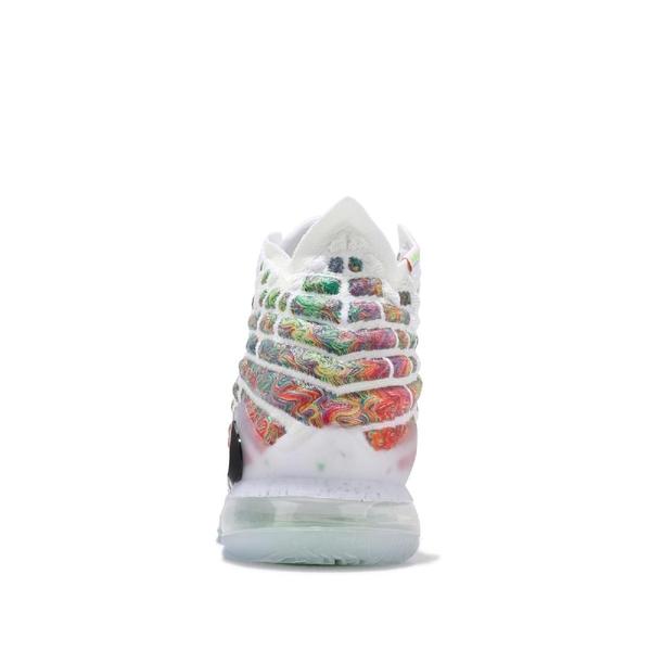 Nike 籃球鞋 LeBron XVII EP 17 Air Command Force 白 彩色 男鞋 氣墊 運動鞋【PUMP306】 BQ3178-100