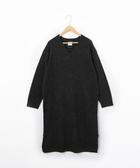 小羔羊V領洋裝 超長版毛衣 可手洗 衣長100cm 日本品牌【coen】