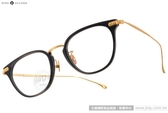 NINE ACCORD 光學眼鏡 UNION UB C01 (黑-金) β鈦金屬系列簡約款 # 金橘眼鏡