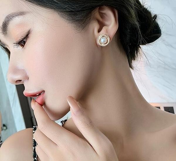 耳飾 塔蘭旋渦珍珠耳環耳釘2020年新款潮韓版簡約冷淡風小巧耳飾女【雙十二限時八折】