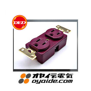 日製Oyaide SWO-GX 2孔電源插座(牆壁用)
