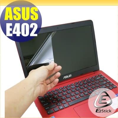 【Ezstick】ASUS E402 M 專用 靜電式筆電LCD液晶螢幕貼 (可選鏡面或霧面)