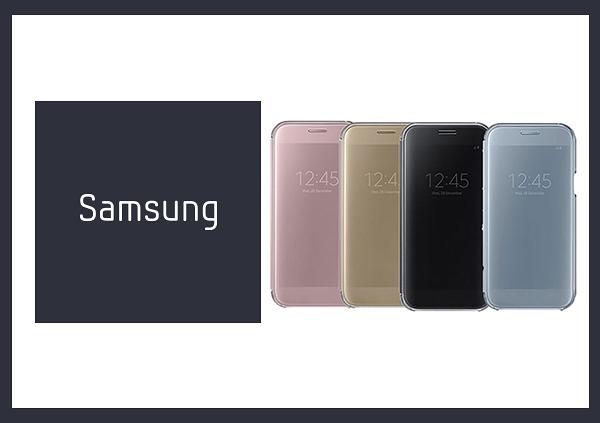 SAMSUNG GALAXY A5 (2017) Clear View 原廠全透視感應皮套 (台灣公司貨)