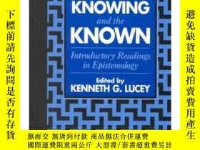 二手書博民逛書店On罕見Knowing and the Known introd