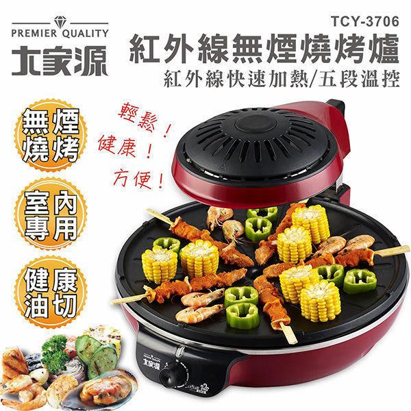 【艾來家電】【分期0利率+免運】大家源 紅外線無煙燒烤爐 TCY-3706