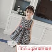 童裝女童夏裝純棉洋裝2020夏季新款洋裝韓版中大童兒童格子公主裙子